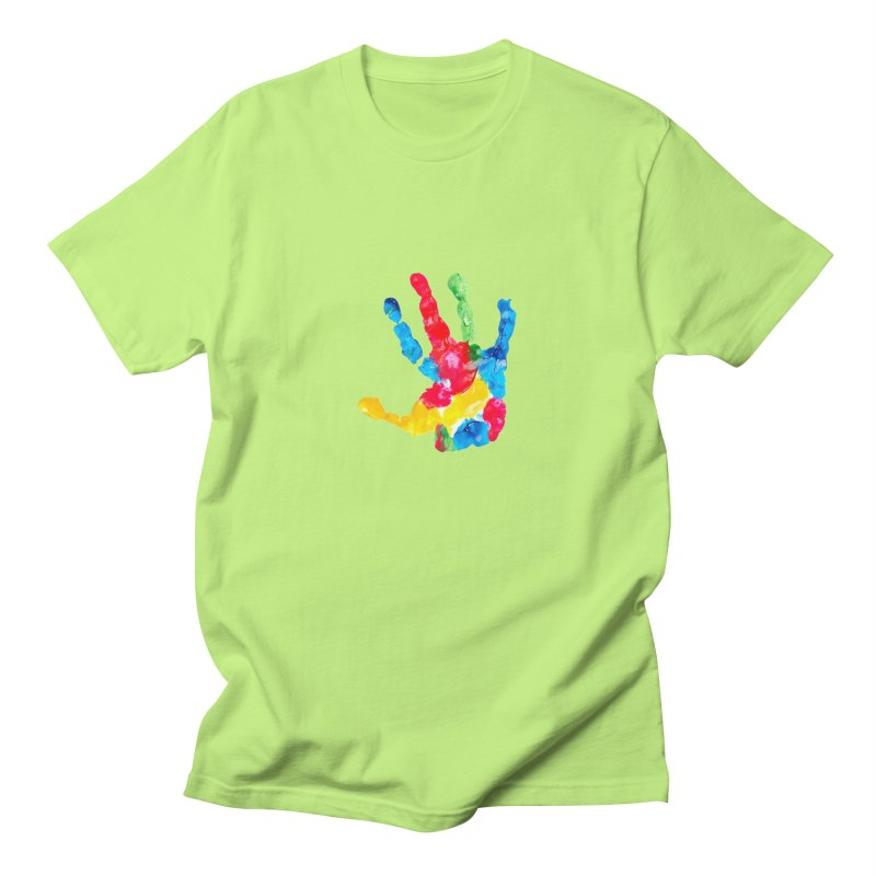 Hand Paint Men's Regular T-Shirt by Coachella Valley Autism Society of America