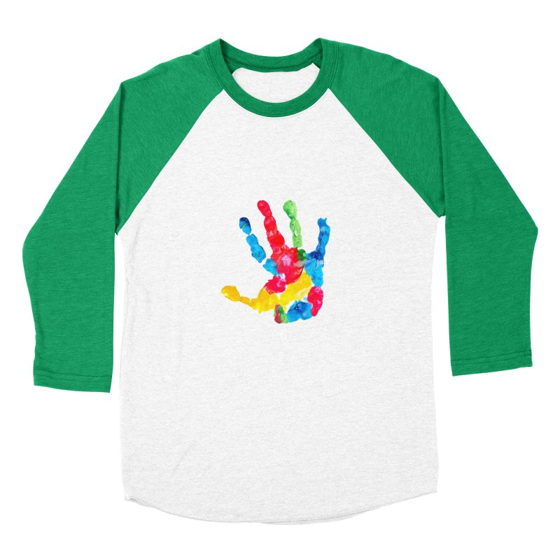 Hand Paint Women's Baseball Triblend Longsleeve T-Shirt by Coachella Valley Autism Society of America