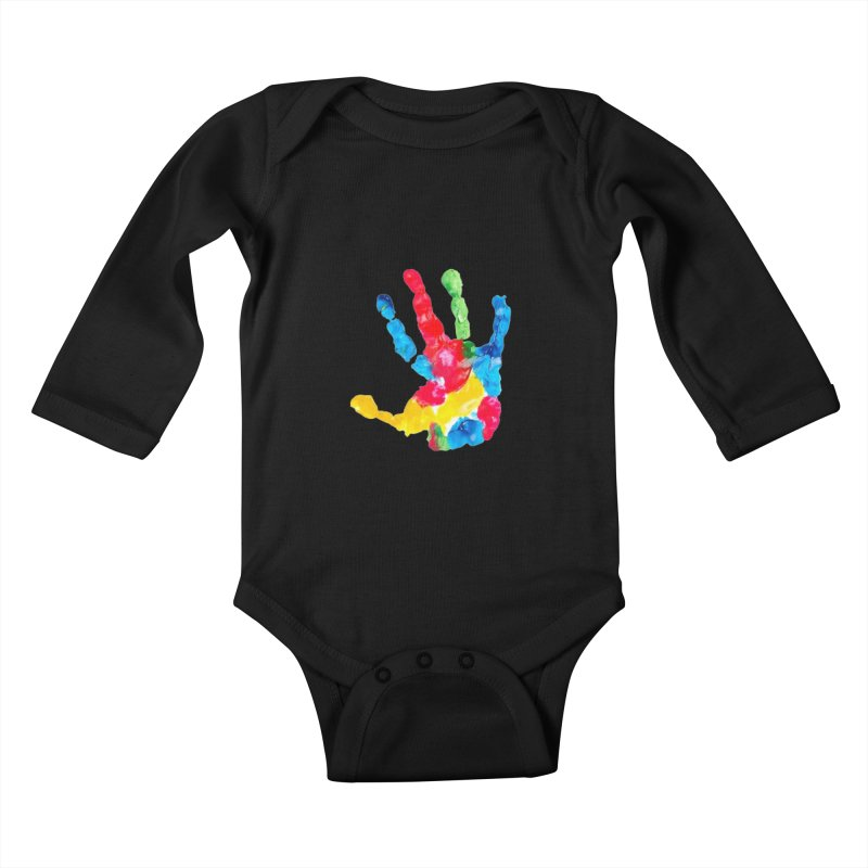 Hand Paint Kids Baby Longsleeve Bodysuit by Coachella Valley Autism Society of America