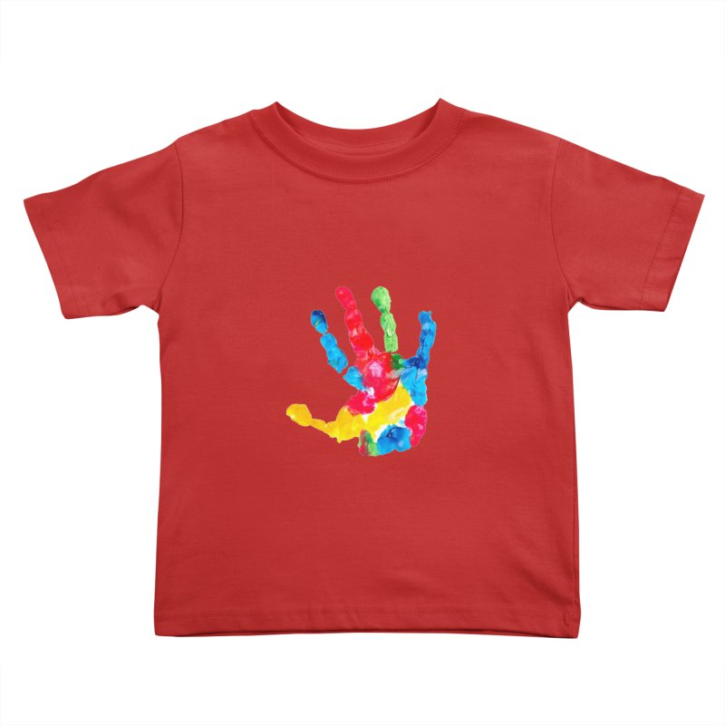 Hand Paint Kids Toddler T-Shirt by Coachella Valley Autism Society of America