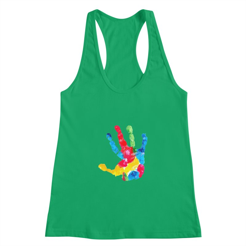 Hand Paint Women's Tank by Coachella Valley Autism Society of America