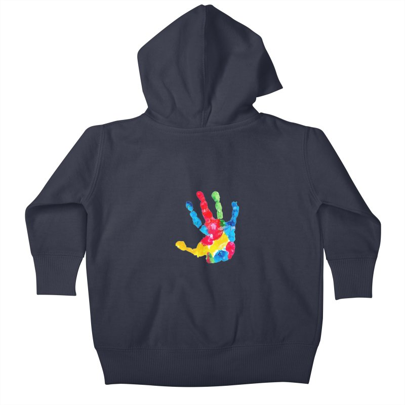 Hand Paint Kids Baby Zip-Up Hoody by Coachella Valley Autism Society of America