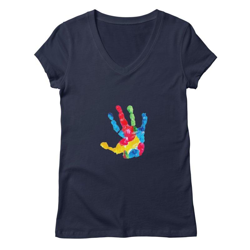 Hand Paint Women's Regular V-Neck by Coachella Valley Autism Society of America