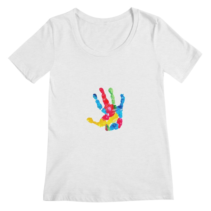 Hand Paint Women's Regular Scoop Neck by Coachella Valley Autism Society of America
