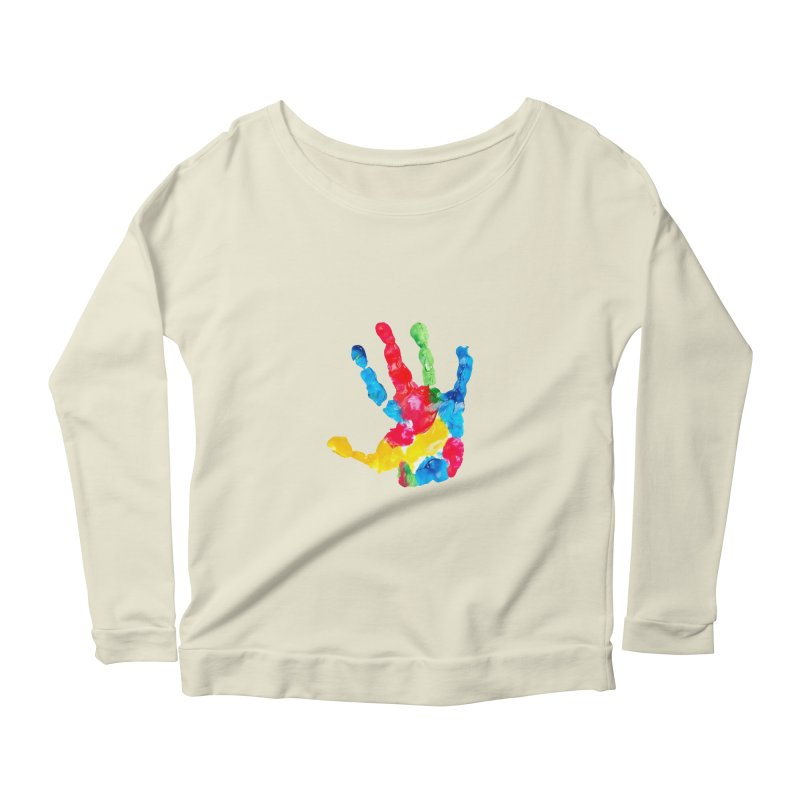 Hand Paint Women's Scoop Neck Longsleeve T-Shirt by Coachella Valley Autism Society of America