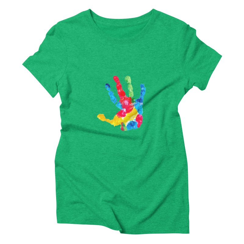 Hand Paint Women's Triblend T-Shirt by Coachella Valley Autism Society of America