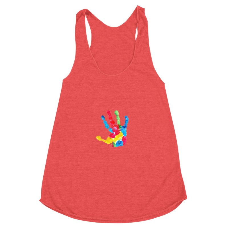 Hand Paint Women's Racerback Triblend Tank by Coachella Valley Autism Society of America