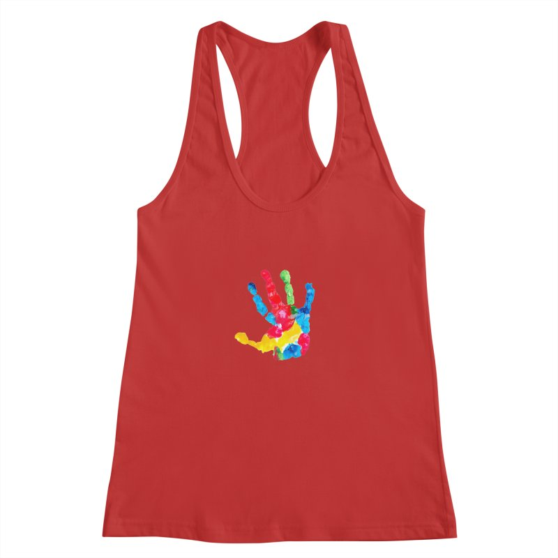 Hand Paint Women's Racerback Tank by Coachella Valley Autism Society of America