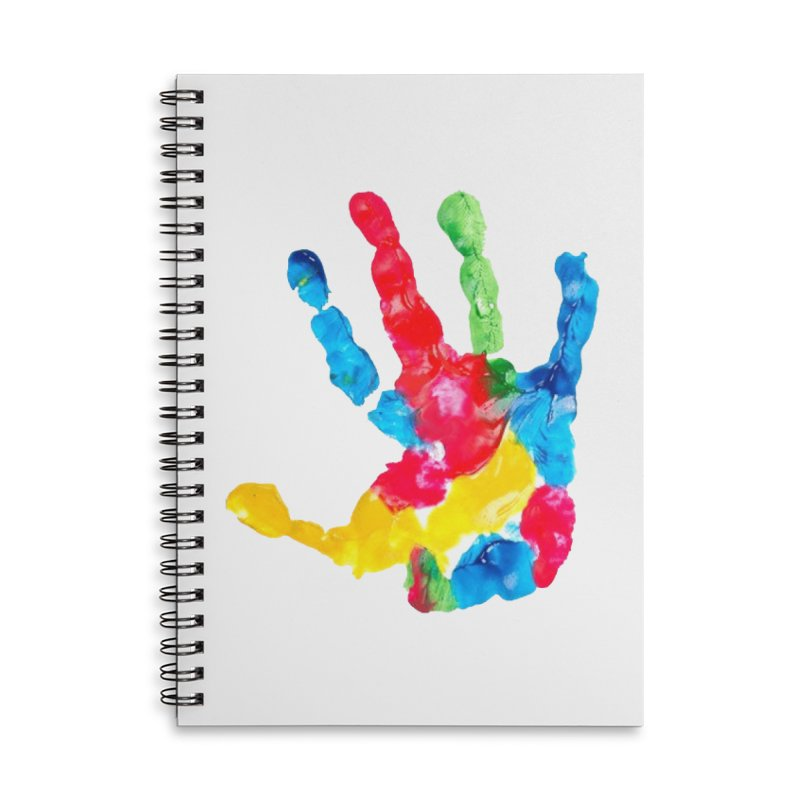 Hand Paint Accessories Lined Spiral Notebook by Coachella Valley Autism Society of America