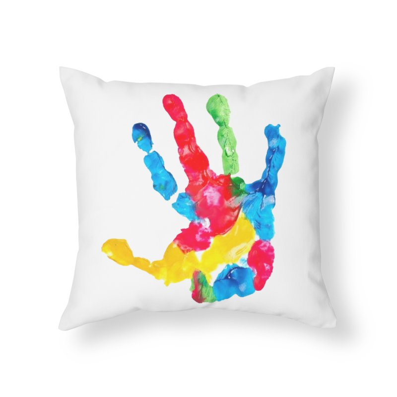 Hand Paint Home Throw Pillow by Coachella Valley Autism Society of America