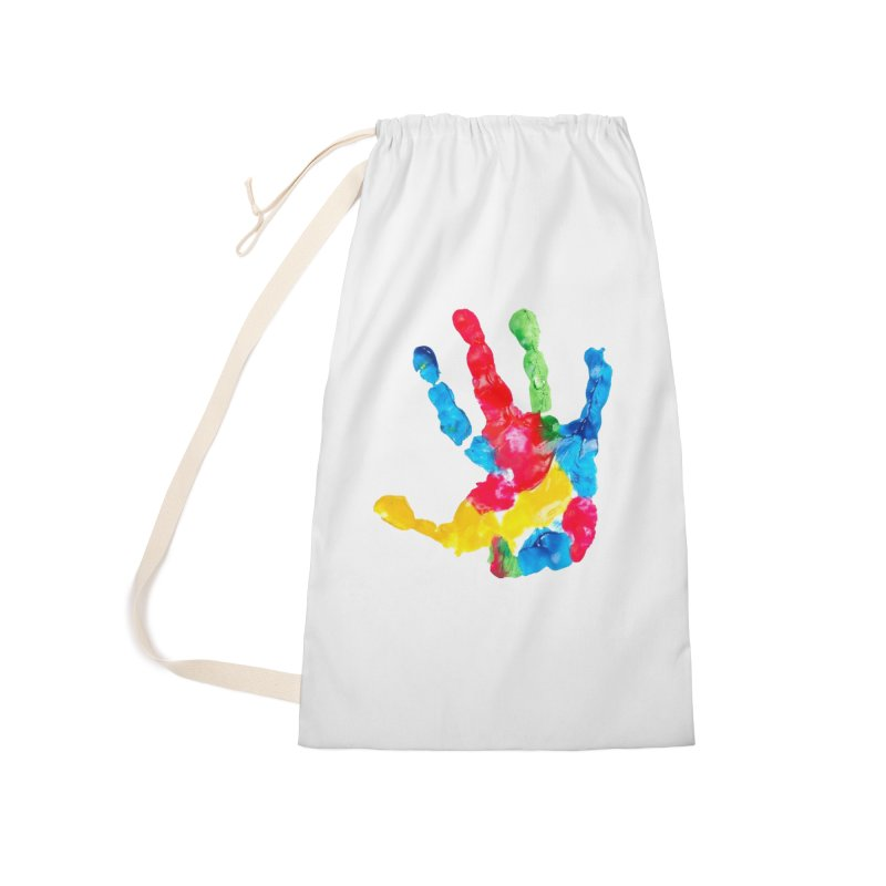 Hand Paint Accessories Laundry Bag Bag by Coachella Valley Autism Society of America