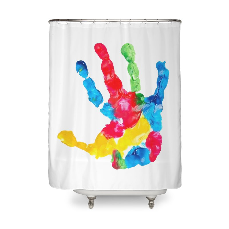 Hand Paint Home Shower Curtain by Coachella Valley Autism Society of America