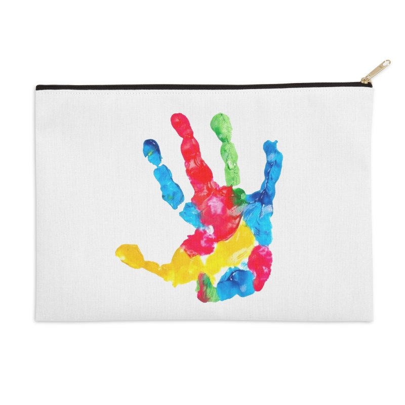 Hand Paint Accessories Zip Pouch by Coachella Valley Autism Society of America