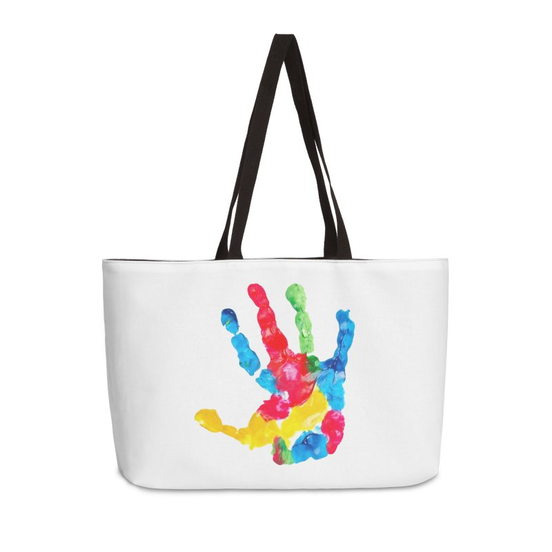 Hand Paint Accessories Weekender Bag Bag by Coachella Valley Autism Society of America