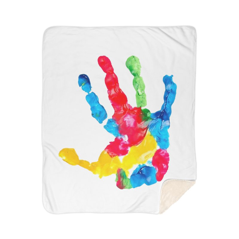 Hand Paint Home Sherpa Blanket Blanket by Coachella Valley Autism Society of America