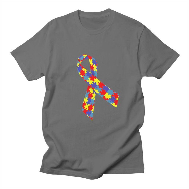 Ribbon Men's T-Shirt by Coachella Valley Autism Society of America