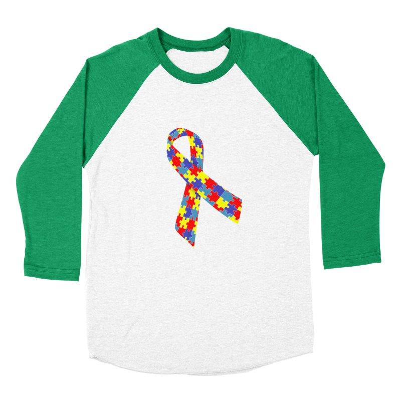 Ribbon Women's Longsleeve T-Shirt by Coachella Valley Autism Society of America