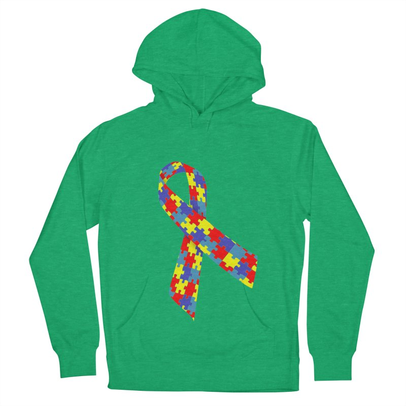 Ribbon Women's French Terry Pullover Hoody by Coachella Valley Autism Society of America