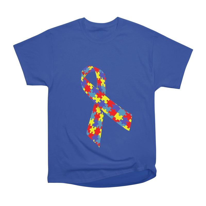 Ribbon Women's Heavyweight Unisex T-Shirt by Coachella Valley Autism Society of America