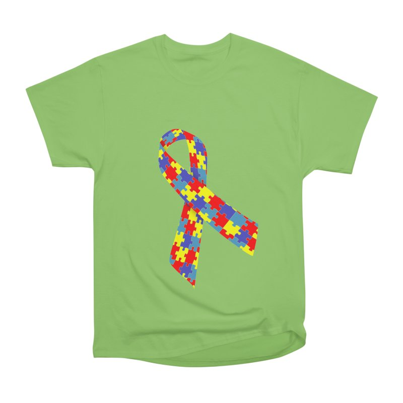 Ribbon Men's Heavyweight T-Shirt by Coachella Valley Autism Society of America