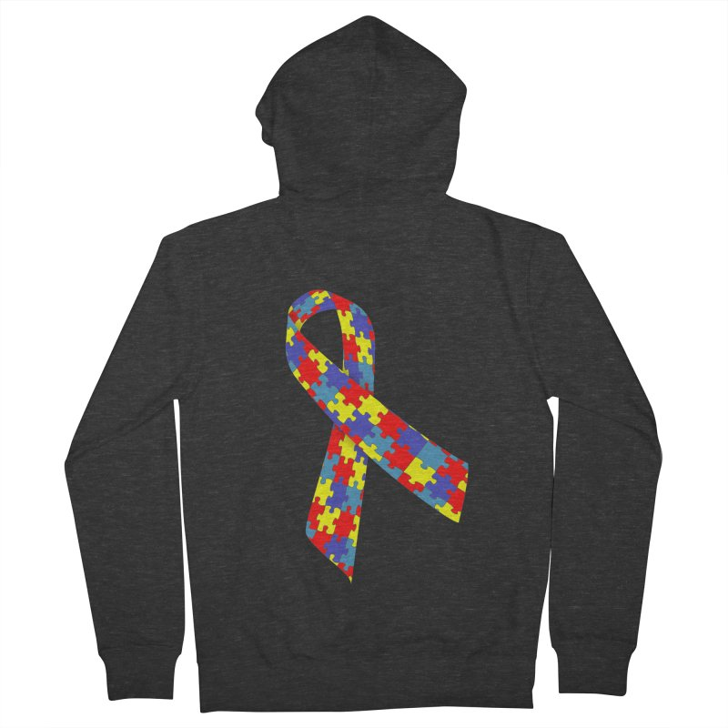 Ribbon Women's French Terry Zip-Up Hoody by Coachella Valley Autism Society of America