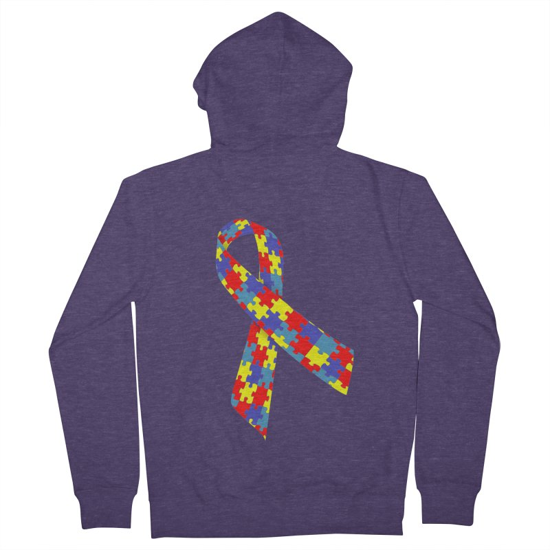 Ribbon Men's French Terry Zip-Up Hoody by Coachella Valley Autism Society of America