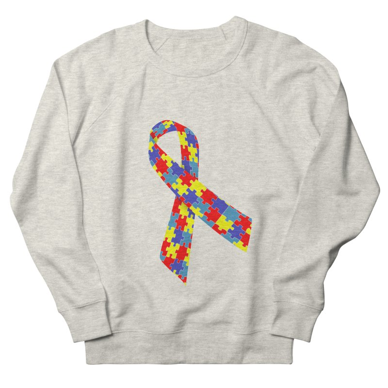 Ribbon Women's French Terry Sweatshirt by Coachella Valley Autism Society of America
