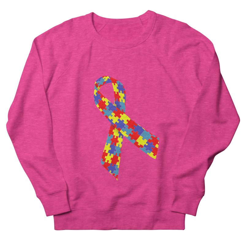Ribbon Men's French Terry Sweatshirt by Coachella Valley Autism Society of America