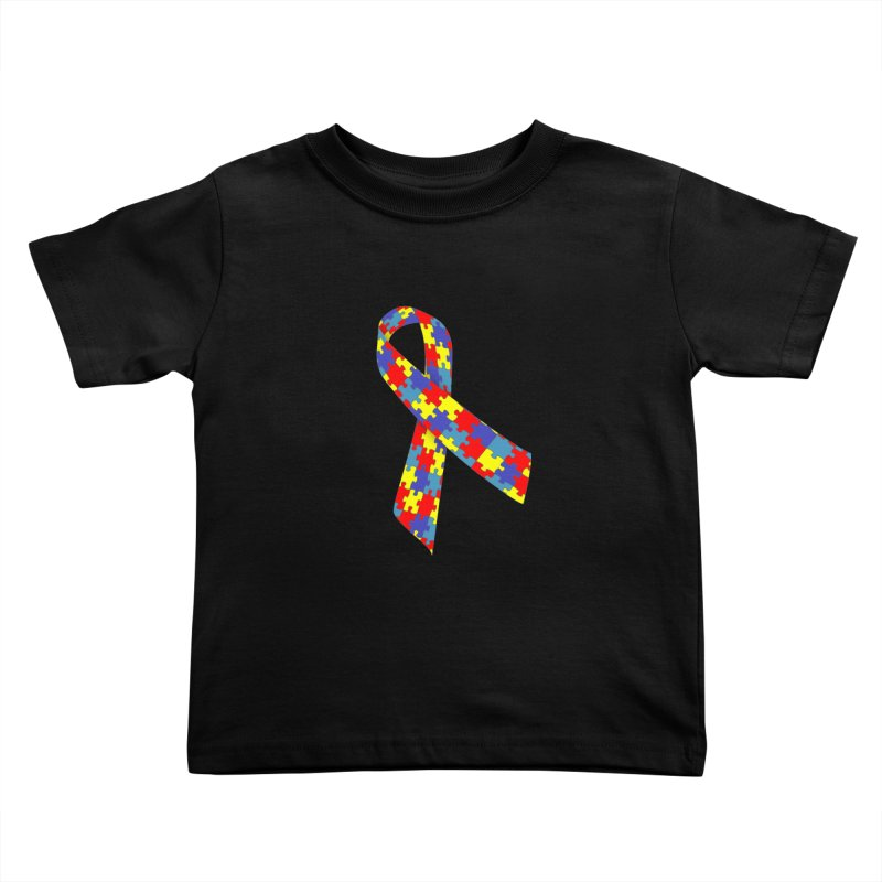 Ribbon Kids Toddler T-Shirt by Coachella Valley Autism Society of America