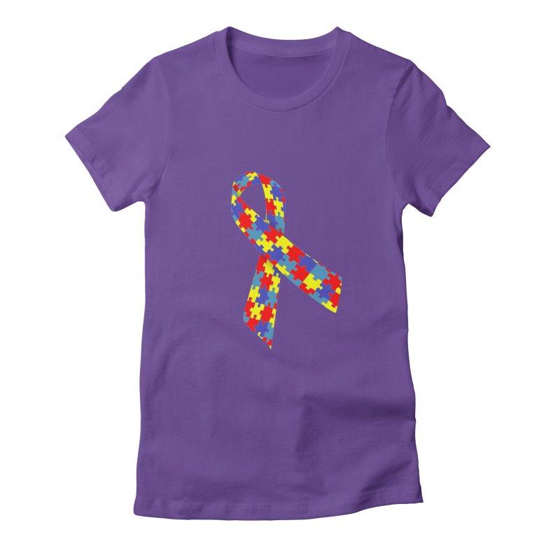 Ribbon Women's T-Shirt by Coachella Valley Autism Society of America