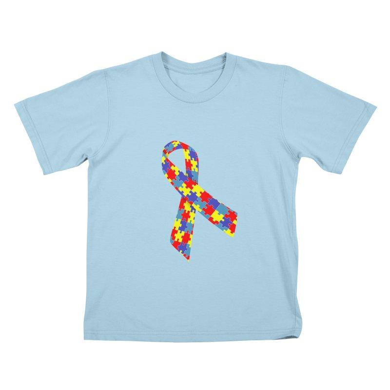 Ribbon Kids T-Shirt by Coachella Valley Autism Society of America