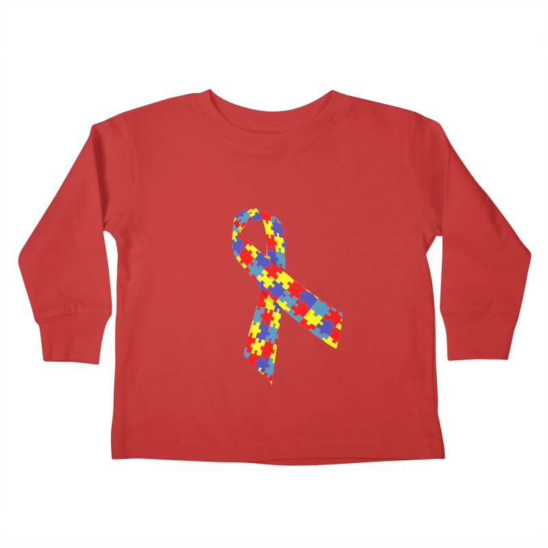 Ribbon Kids Toddler Longsleeve T-Shirt by Coachella Valley Autism Society of America