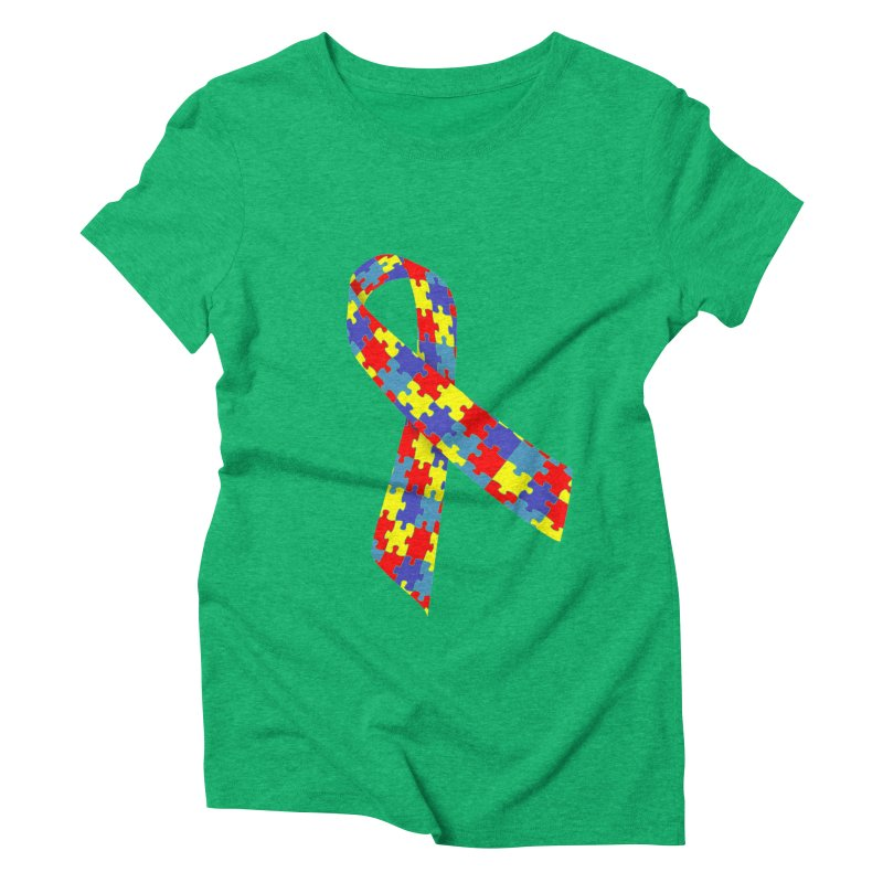 Ribbon Women's Triblend T-Shirt by Coachella Valley Autism Society of America