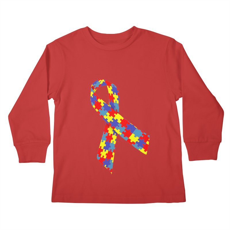 Ribbon Kids Longsleeve T-Shirt by Coachella Valley Autism Society of America