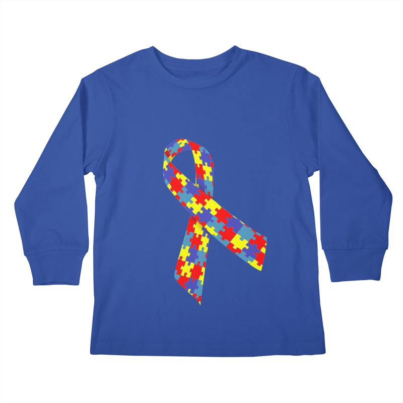 Ribbon Kids Longsleeve T-Shirt by Coachella Valley Autism Society of America