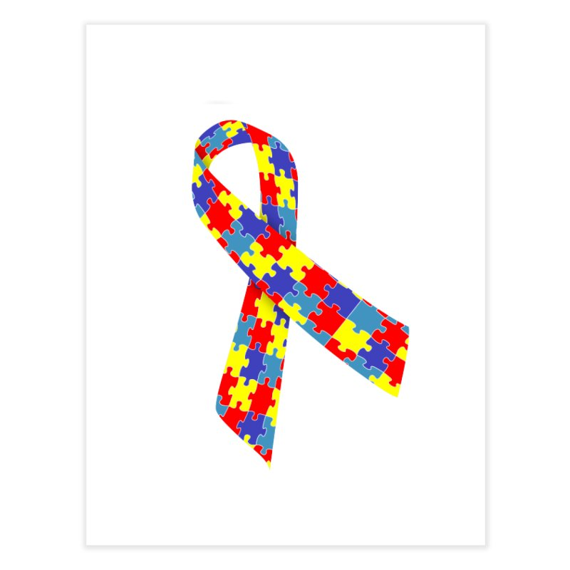 Ribbon Home Fine Art Print by Coachella Valley Autism Society of America