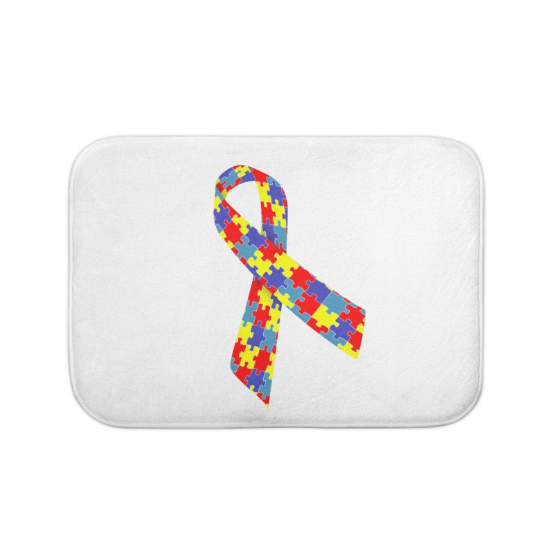 Ribbon Home Bath Mat by Coachella Valley Autism Society of America