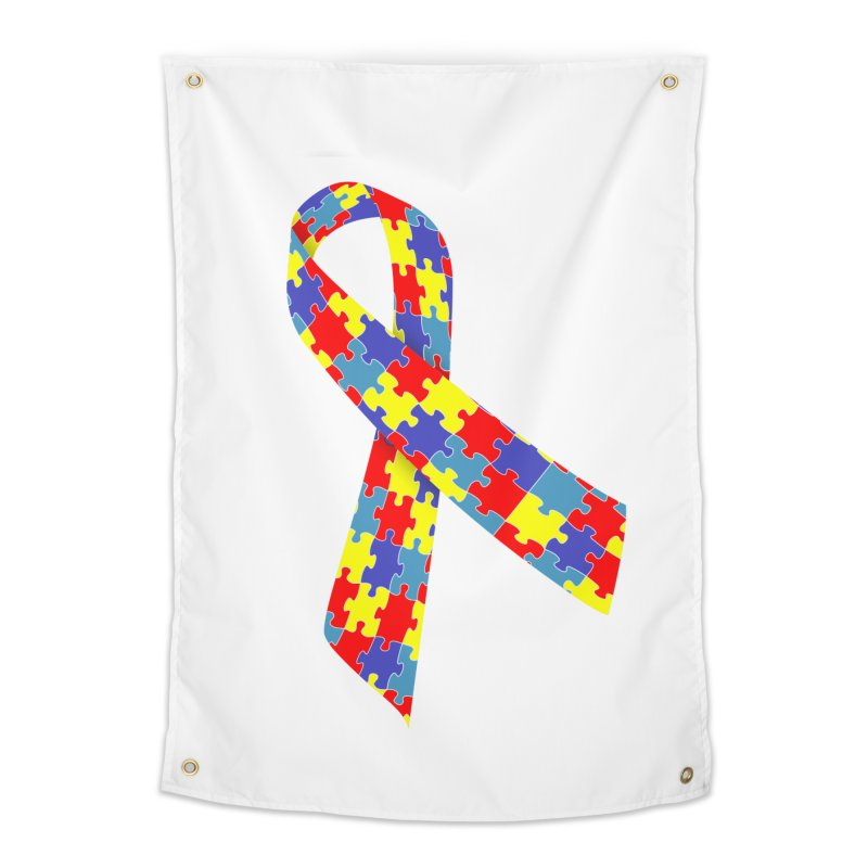 Ribbon Home Tapestry by Coachella Valley Autism Society of America