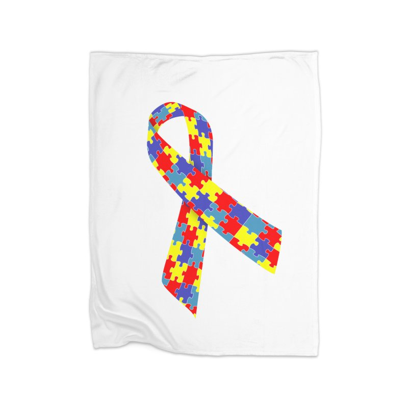 Ribbon Home Blanket by Coachella Valley Autism Society of America