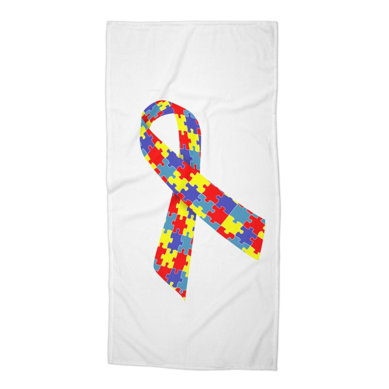 Ribbon Accessories Beach Towel by Coachella Valley Autism Society of America