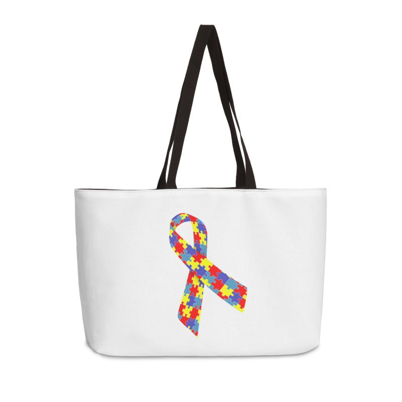 Ribbon Accessories Weekender Bag Bag by Coachella Valley Autism Society of America