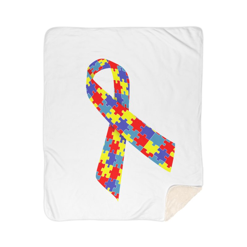 Ribbon Home Sherpa Blanket Blanket by Coachella Valley Autism Society of America