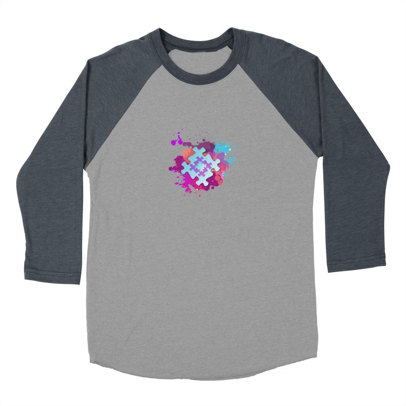 Splash Men's Baseball Triblend Longsleeve T-Shirt by Coachella Valley Autism Society of America
