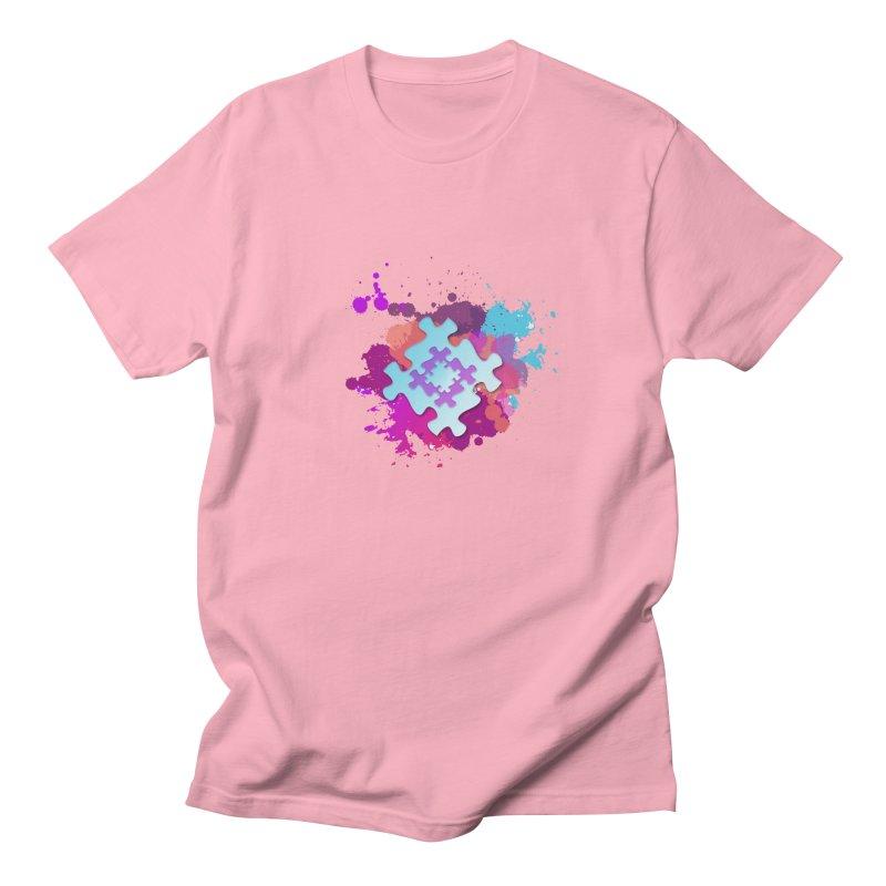 Splash Men's Regular T-Shirt by Coachella Valley Autism Society of America