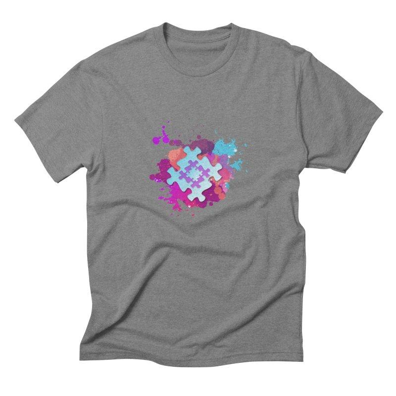 Splash Men's Triblend T-Shirt by Coachella Valley Autism Society of America