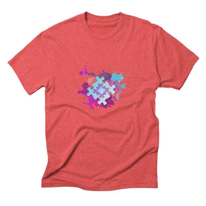 Splash Men's Triblend T-Shirt by Coachella Valley Autism Society of America