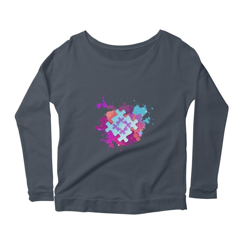 Splash Women's Scoop Neck Longsleeve T-Shirt by Coachella Valley Autism Society of America