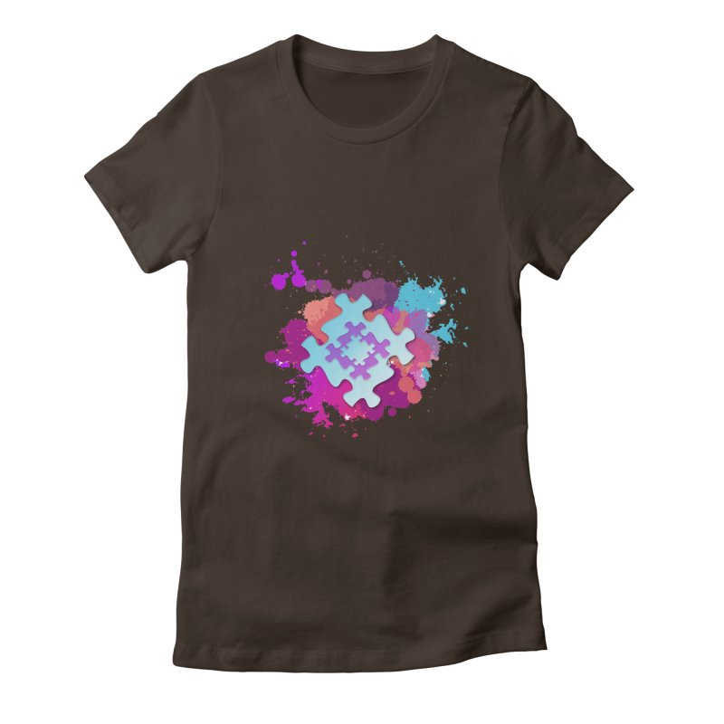 Splash Women's Fitted T-Shirt by Coachella Valley Autism Society of America