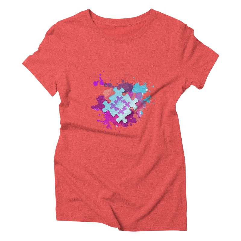 Splash Women's Triblend T-Shirt by Coachella Valley Autism Society of America