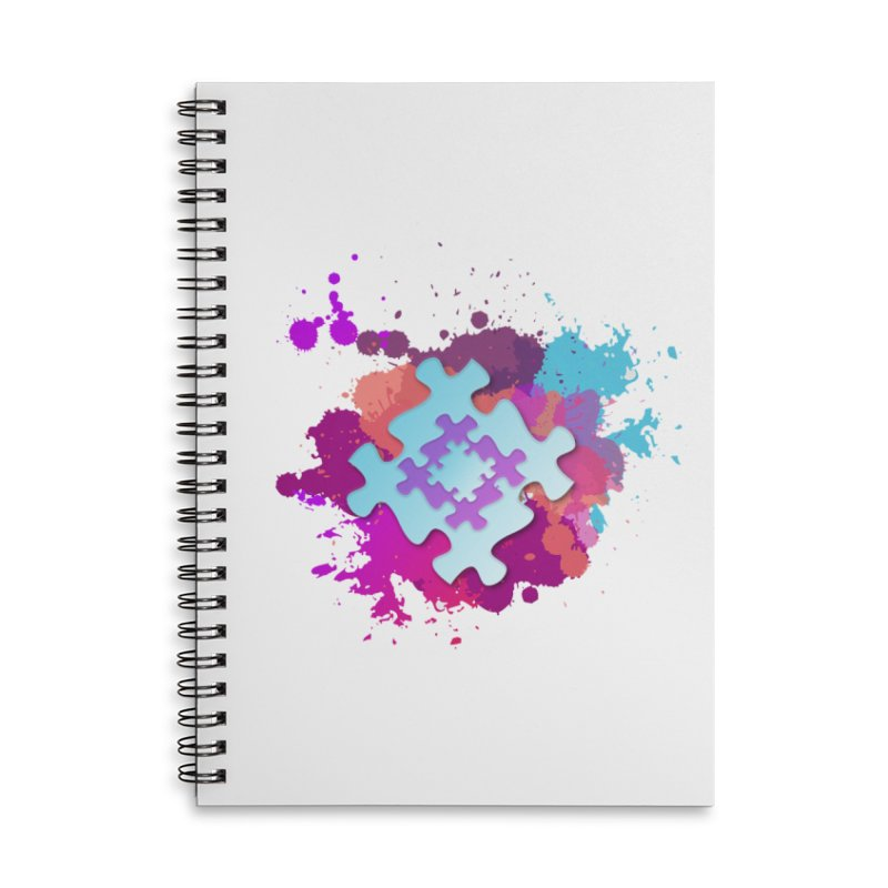 Splash Accessories Lined Spiral Notebook by Coachella Valley Autism Society of America